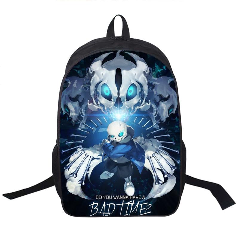 Anime Undertale Backpack For Teenagers Boys Girls School Bags Sans Women Men Travel Bag Undertale Children School Backpacks<br><br>Aliexpress