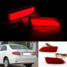 2X For Toyota Corolla For Lexus CT200h 2011-13 Rear Bumper Reflector LED Brake Light