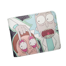New Arrival Cartoon Ricky and Morty Men Wallets Children Women Short Leather Prints Purse Coins Purse Zipper Pocket Cards Holder(China)