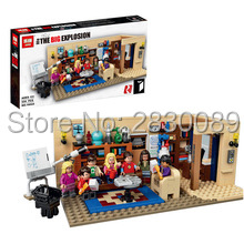 New 16024 Ideas Series The Big Bang Theory Model Building Block set Compatible 21302 classic house living room toy for children<br>