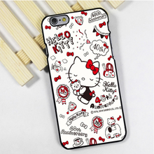 for iPhone 4 4s 5 5s 5c se 6 6s 7 plus ipod touch 4 5 6 back skins phone case cover New cute colourful hello kitty kitten cats
