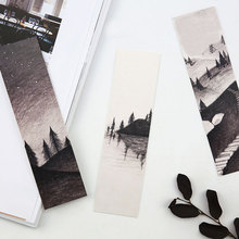 30 pcs/box Black white mountains and rivers paper bookmarks children kawaii stationery office school supplie kids gift