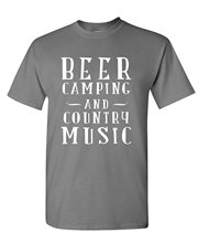 Good Quality Brand Cotton Shirt Summer Style Cool Shirts BEER CAMPER COUNTRY MUSIC - Alcohol Party - Mens Cotton T-Shirt