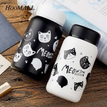Hoomall Cartoon Cats Fruits Stainless Steel Thermos for Tea Vacuum Flask Cartoon Travel Mug garrafa termica Children's Cup