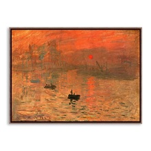 Sunrise landscape murals Impressionist Claude Monet Work Modern Canvas Art Print Poster Wall Picture Oil Painting For Home Decor(China)