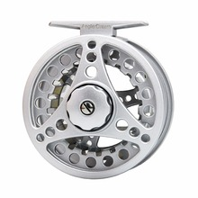 1/2 3/4 5/6 7/8WT Fly Reel Silver Die casting Large Arbor Fly Fishing Reel Spare Spool Available