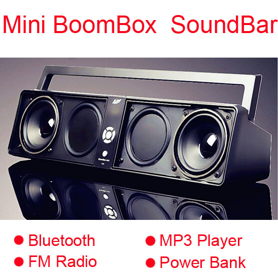 Boombox Amplifiers Bluetooth FM Radio MP3 Play USB TF Card Slots HiFi Subwoofer Computer Speaker TV Soundbar Li-ion Power Bank<br><br>Aliexpress