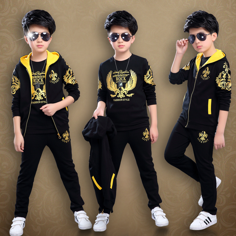 2017 new boys spring childrens spring and autumn sports three suits<br>