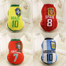 Summer Fashion Sport Football Dog Clothes For Small Medium Large Dogs Chihuahua Pet Dog Clothing Cool Cat Shirt Vest XS-6XL(China)