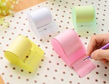Free ship!6set!Sweet color sticky note paper / mini office tearing pad with tape holder/Memo pads/ scratch note