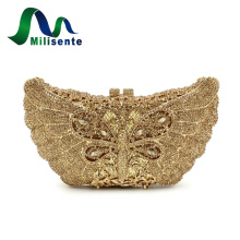 Milisente Women Bags Luxury Crystal Dragonfly Shape Evening bag Femal Diamonds Clutches Gold Party Wedding Purse