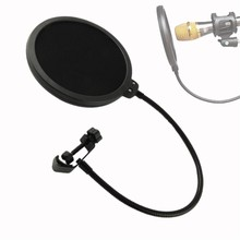 Microphone Pop Filter Singing Windscreen Shield Pod Cast Dual Double Layer Mask Anti Mic Metal Studio Pop Filter(China)