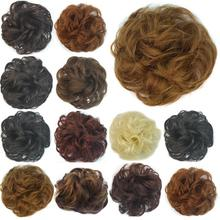 High Quality Fake Hair Extension Wavy Hair Pony Tail Bride Bun Hairpiece Scrunchie 7 Color