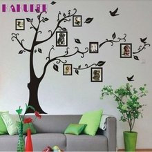 KAKUDER Top grand family photo frame Flying Birds tree wall stickers arts home decorations living room decals posters wall decal