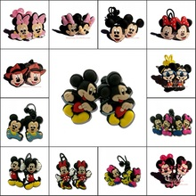 1pair Lovely Mickey Minnie Headwear Girls Hair Accessories Gilrs PVC+Elastic Bands Hairbands Kids Party Gifts Hair Jewelry