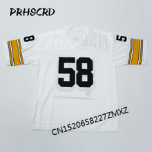 Retro star #58 Jack Lambert Embroidered Throwback Football Jersey(China)