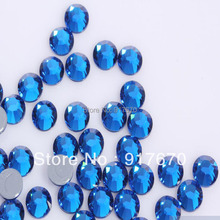 Promotion LUXURY iron on rhinestone transfer designs Austrian strass SS20 Capri Blue 1440pcs/bag, crystal gems for dresses(China)