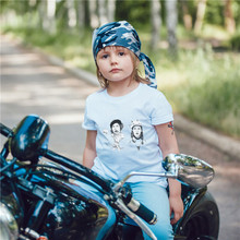 Hot Selling Punk Rock Boys Girls T-shirt Summer Street Popular Children Clothes Funny Baby Tshirt Cotton White Kids Tops EH1143