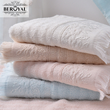 2017 New Arrival Beroyal Brand Towel 100% Cotton Tassels Towel Set Solid Terry Towels Adult Face Cloth Box Gifts for Women/Lady