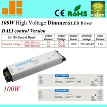 Free shipping High Voltage Dali dimmer LED driver, dimming driver,1CH,AC110-240V ,DM9120H-D24(100W)