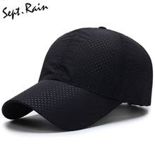 Men Women 2017 Summer Baseball Caps Breathable Snapback Quick Dry Mesh Sun Hat Bone Solid Hats Outdoor Adjustable Cap