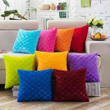 Hot Sales 43*43cm Square Velvet Pillowcases Solid Color Pillow Cases Cover(China)