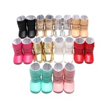 2016 Winter 3 Layer Tassels Baby Moccasins Fleece Pu Leather Fringed Boots Infant Toddler Soft Bottom Thick Boots For Girls Boys