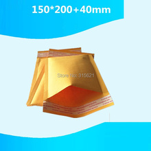 20pcs 150mm*200mm+40mm Thicken ANTITHEFT Mailing Bags Good Quality Yellow Kraft Mailer Transportation Post Packing Bag
