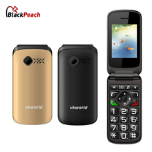 vkworld vk Z2 Mobile Phone 2.4 Inch Qwerty Keyboard Long Standby Loud Sound FLIP Dual SIM Old Man People Phone