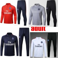 2017 2018 new Thailand quality at home and out Jerseys THIRD black Jerseys PSG 17 18 Adult training clothes(China)