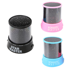 Star Master Night Lights Projector Romantic Starry Sky Multi-color Home Decoration Lighting Blue Pink Black