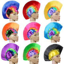 Synthetic None Lace Wig Freeshipping Cheap Mohawk Synthetic Hair Fashion Costume Cosplay Punk Party Wigs For Halloween(China)