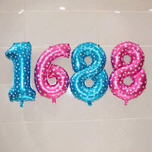 32 inch Large Aluminum Foil Number Balloons Helium Inflable Digital Air Balloons Wedding Birthday Party Decoration Supplies