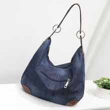 2017 New Fashion Large Luxury Handbags Women Bag Designer Ladies Hand bags Big Purses Jean Tote Denim Shoulder Crossbody F545