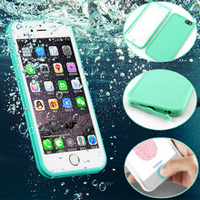 Colorful Candy Color Diving Waterproof Cases for Capinha iphone SE 6 6s 7 Plus Soft Silicone Rubber Shockproof Dustproof Cover