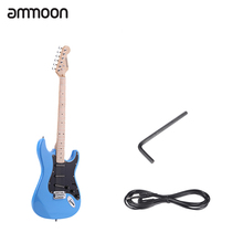 "ammoon 38"" Electric Guitar Guitarra Solid Basswood Body Maple Neck 22 Frets 6 String with Pickguard 6.35mm Cable"