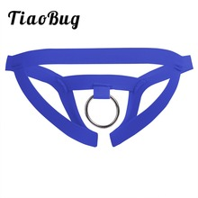 Buy TiaoBug Mens Sexy Lingerie Low Rise Crotchless Jockstrap Open Back Bikini G-string Thong Briefs Underwear O-Ring Underpants
