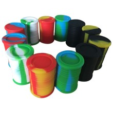 silicone oil barrel container jars dab wax vaporizer oil rubber drum shape container 11ml large food grade herb tool free ship