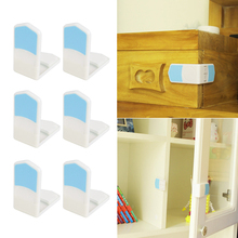 2017 Baby Child Safety Locking Plastic Cabinet Drawer Bathroom Door Protection 6Pcs  MAR21_15