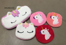 HOT - Gift Plush Unicorn Coin BAG , Lady Girl's Sweet ALL Shapes , 6-28CM ALL Sizes , Plush Coin Pouch , Pocket Coin Case BAG(China)