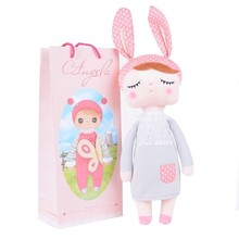 Metoo Angela plush dolls 35cm baby toy doll sweet lovely stuffed toys Dolls for kids girls Birthday/Christmas Gift with bag(China)