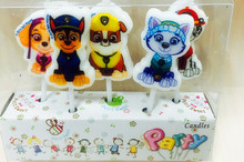 5PCS/SET BIRTHDAY CARTOON PAW PATROL CANDLE KIDS FAVOR BIRTHDAY PARTY SUPPLIES CAKE DECORATION