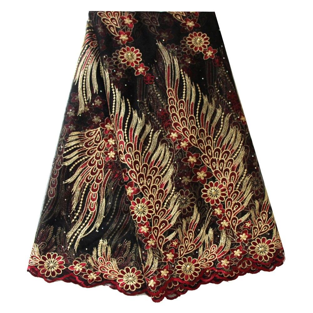Wine lace fabrics