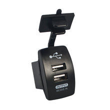 New Dual USB Car Charger Adapter 2 port usb socket Charger Car-Charger Motorcycle Charger For iPhone 5 6 6S Ipad Samsung Tablet(China)