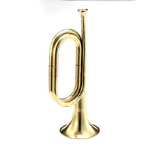 1PCS 31cm Iron Copper Trumpet Bugle For Brass Musical Instruments Music Lovers(China)