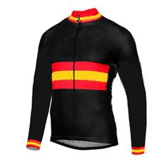 2017 Spain Outdoor Sports Cycling Jersey Spring Bike Bicycle Long Sleeves MTB Clothing Shirts Wear Bike Jersey(China)