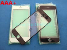 10pcs/lot NEW Replacement LCD Front Touch Screen Glass Outer Lens for iphone 6 plus 5.5inch Oleophobic coating high quality AAA+