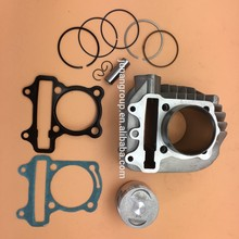 GY6 150CC Version B Cylinder Sets W/ Piston Piston Ring Pin Clips 57.4mm Top Eend Set  Scooter Engine Parts