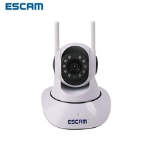ESCAM G02 Dual Antenna 720P Pan/Tilt WiFi IP IR Camera Support ONVIF Max Up to 128GB Video Monitor(China)