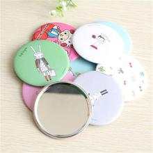 Sweet lovely round Pocket make up with cover Mirror Comb Makeup Cosmetic Tool Gift Portable mini Mirror